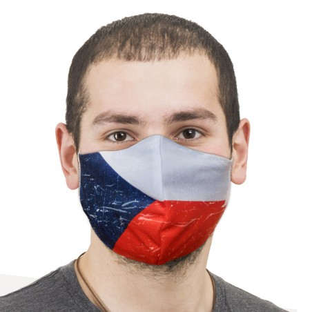Rouška Vlajka dvoudílná