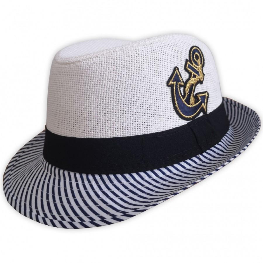 Detský plážový klobúk biely