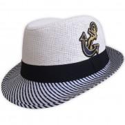 Dětský plážový klobouk bílý