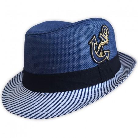 Dětský plážový klobouk modrý