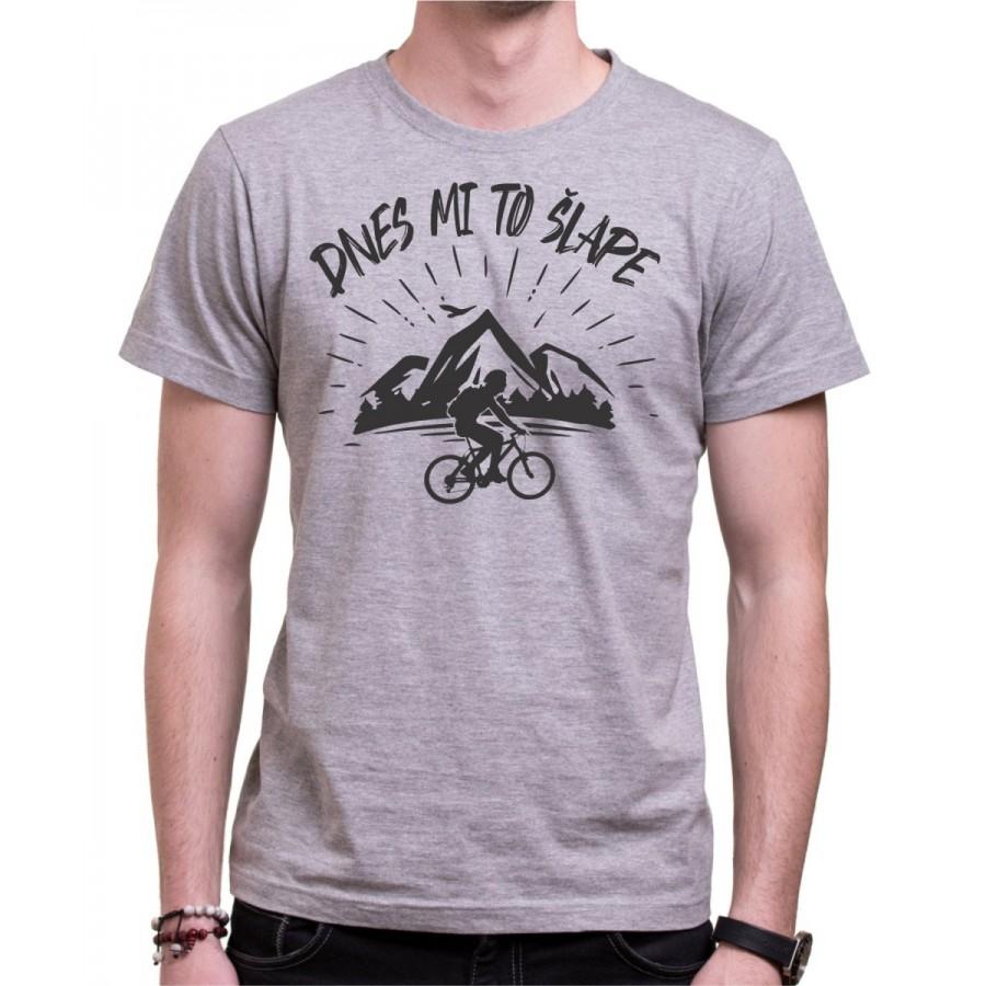 Cyklo tričko Dnes mi to šlape sivé