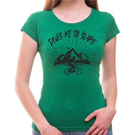 Cyklo tričko dnes mi to šlape dámske zelené