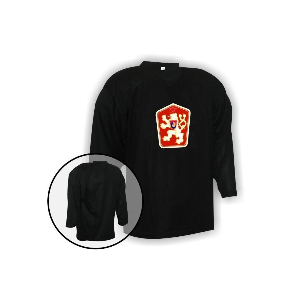 Hokejový dres Camp so znakom ČSSR čierny