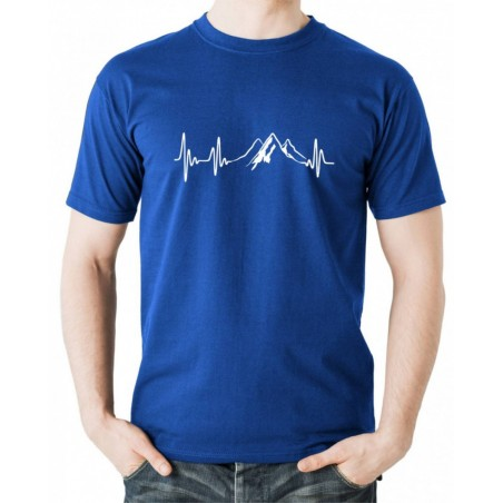 Tričko EKG Hory modré
