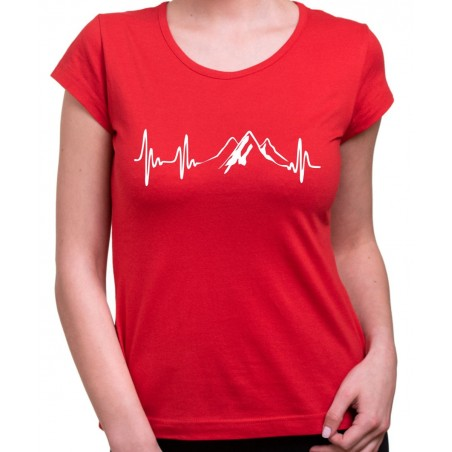 Tričko EKG Hory dámske červené