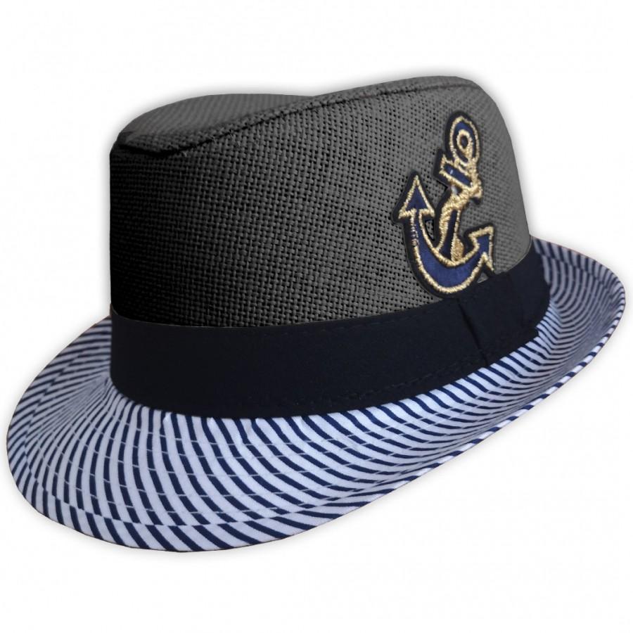 Detský plážový klobúk čierny