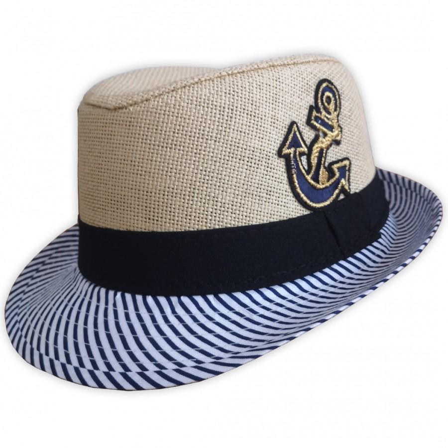 Detský plážový klobúk slamový