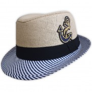 Dětský plážový klobouk slámový