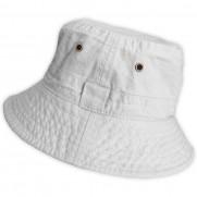 Plátěný klobouček bílý