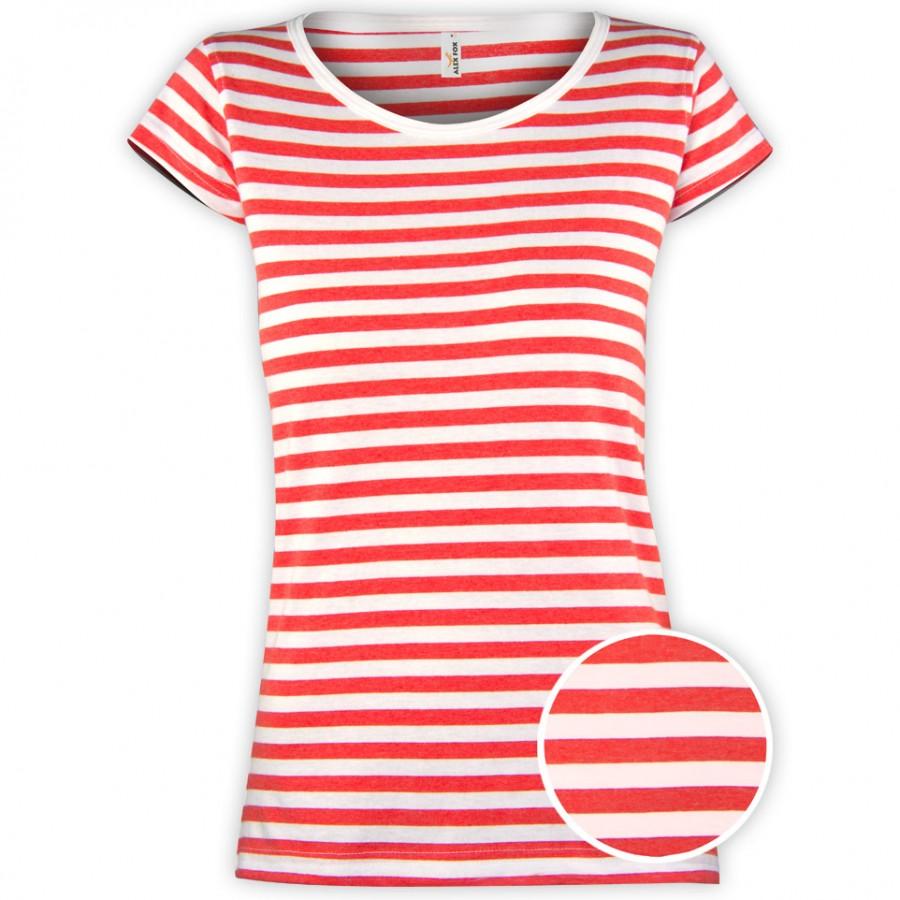 Námornícke tričko dámske červené
