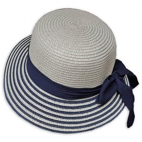 Dámský plážový klobouček se stuhou