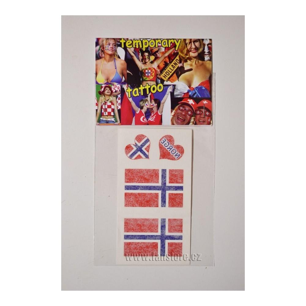 Tetovacie obtlačky Nórsko v blistre