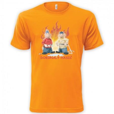Dětské tričko Pat a Mat - Dokonalý hasič