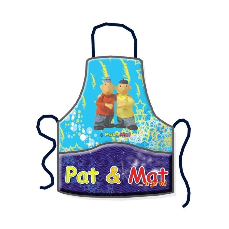 Dětská školní zástěra Pat a Mat