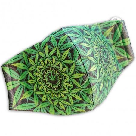Obličejová rouška Mandala konopí