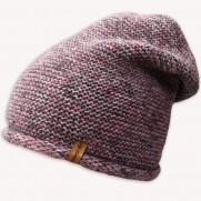 Zimní čepice NowMark fialková s vlnkou