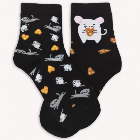 Ponožky S myškou černé