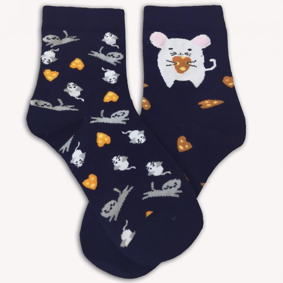 Ponožky S myškou tmavě modré