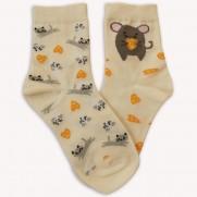 Ponožky S myškou žluté