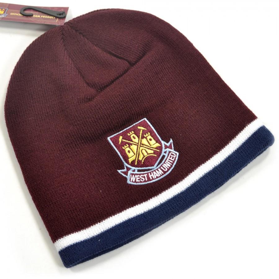 Zimní čepice West Ham United vínová