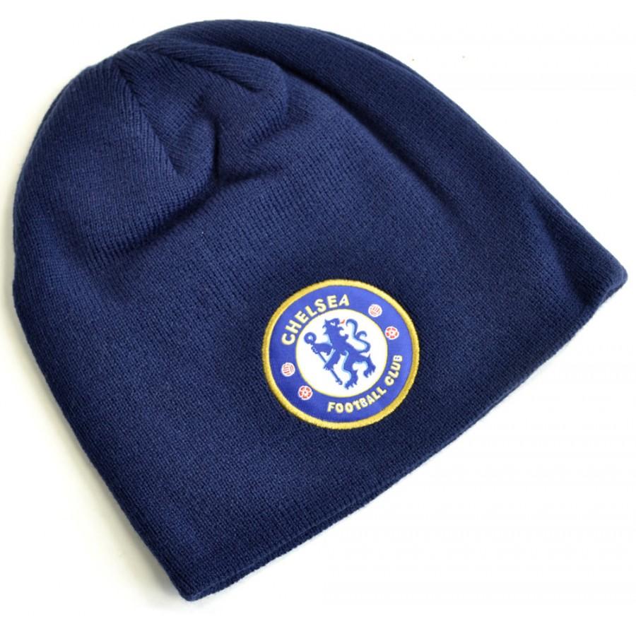 Zimní čepice Chelsea FC Navy Blue