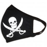 Rouška Pirátská s lebkou a šavlemi