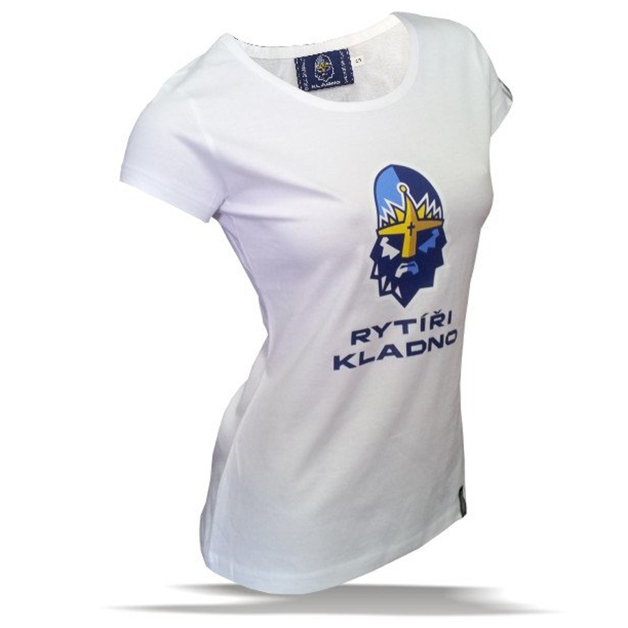 """Tričko Rytíři Kladno dámské """"Logo"""" bílé"""