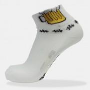 Cyklo ponožky bílé - pivo