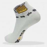 ... Cyklo ponožky bílé - pivo cb031ff4c1
