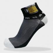 Cyklo ponožky černé - pivo