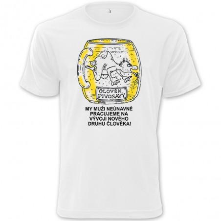 Tričko Pivo - Člověk pivosavý
