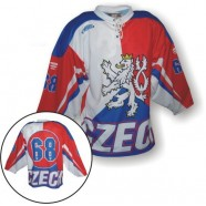 Hokejový dres s vlajkou a lvem