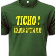 Rybářské tričko Ticho!