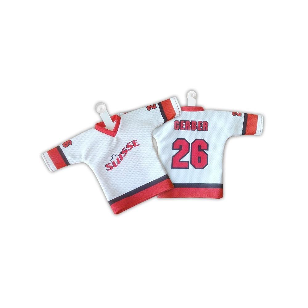 Hokejový minidres Švýcarsko bílý