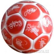 Fotbalový míč FC Liverpool s podpisy hráčů