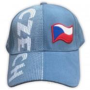 Kšiltovka s nápisem CZECH světle modrá - čelo
