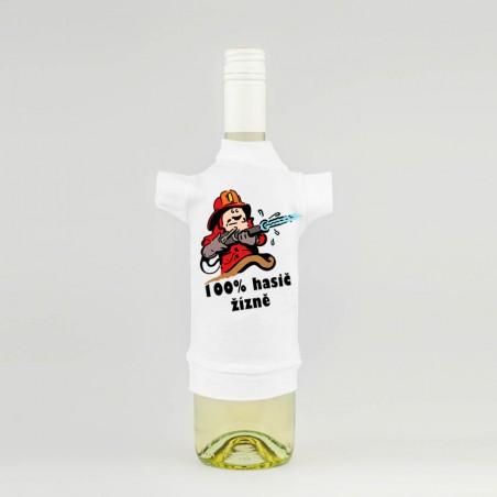 Tričko na láhev 100% Hasič žízně