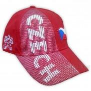 Kšiltovka s nápisem CZECH červená