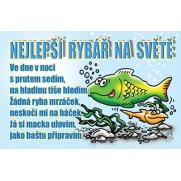 Průkaz pro nejlepšího rybáře na světě