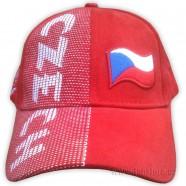 Kšiltovka s nápisem CZECH červená - čelo