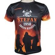 Sportovní tričko Zrozen Hasičem
