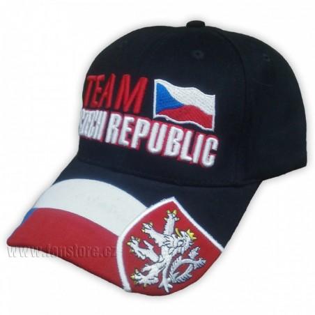 Kšiltovka Team Czech republic černá
