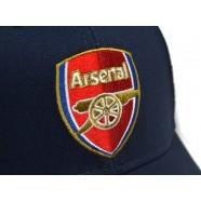 Kšiltovka Arsenal FC modrá detail nášivky
