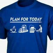 Denní plán řidiče kamionu