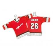 Minidres Švýcarsko červený