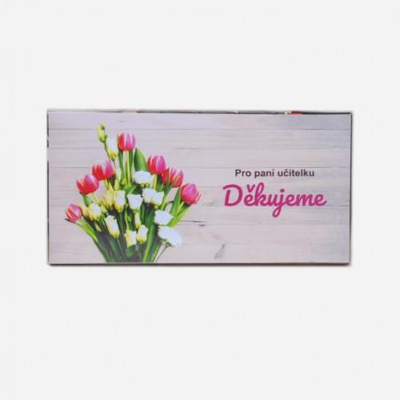 Čokoláda Pro paní učitelku - tulipány