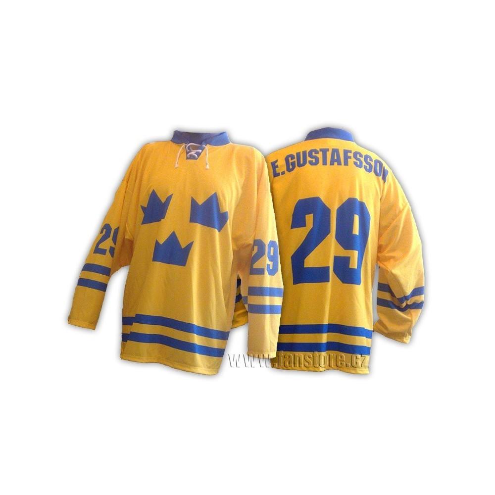 Hokejový dres Švédsko žlutý
