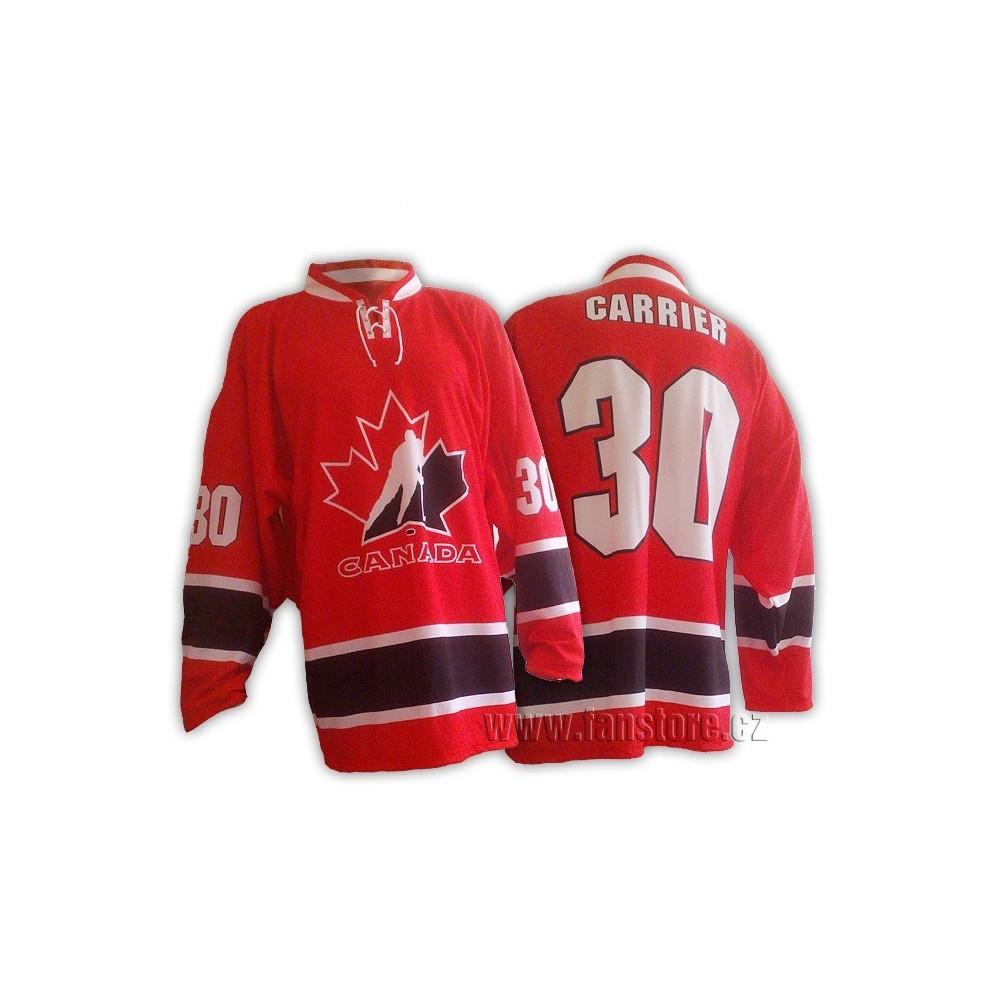 Repre dres Kanada hokej, červený