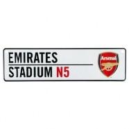 Plechová cedulka Arsenal FC do okna